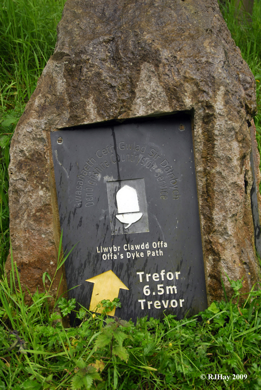 Another form of marker- Offa's Dyke Path