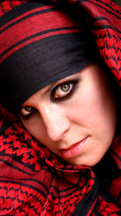 (hello_gypsy) Tags: portrait woman selfportrait me beauty closeup scarf eyes scarves blackeyemakeup desertfashion coalitionheadscarves