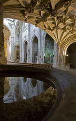 El Reflejo (Lawrence OP) Tags: espaa reflection church water spain dominican gothic iglesia arches holy vault salamanca priory sanesteban ststephen protomartyr dominicos stoup