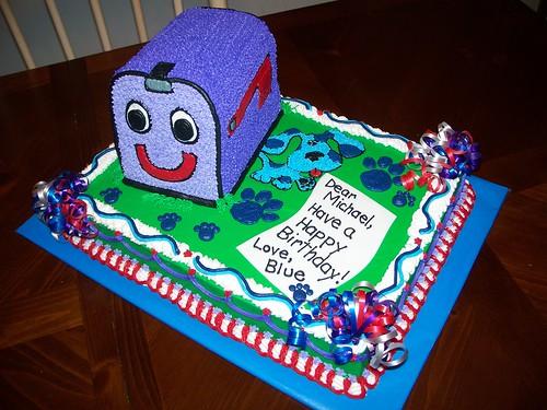 Mailbox blues clues Preschool Blues Clues Mailbox Cake Flickriver Blues Clues Mailbox Cake Photo On Flickriver