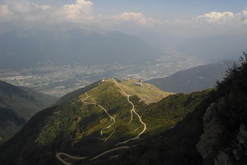 Auffahrt Monte Tamaro