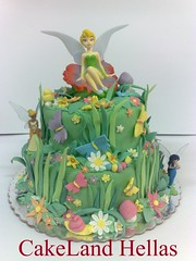 Tinkerbell cake (CakeLandHellas) Tags: birthday party flower cake forest garden princess tinkerbell disney queen fairy daisy fairies enchanted clarion fondant silvermist