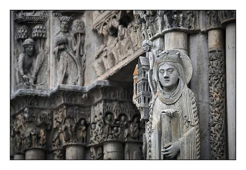 France, Detail 'Cathédrale Notre-Dame de Chartres'