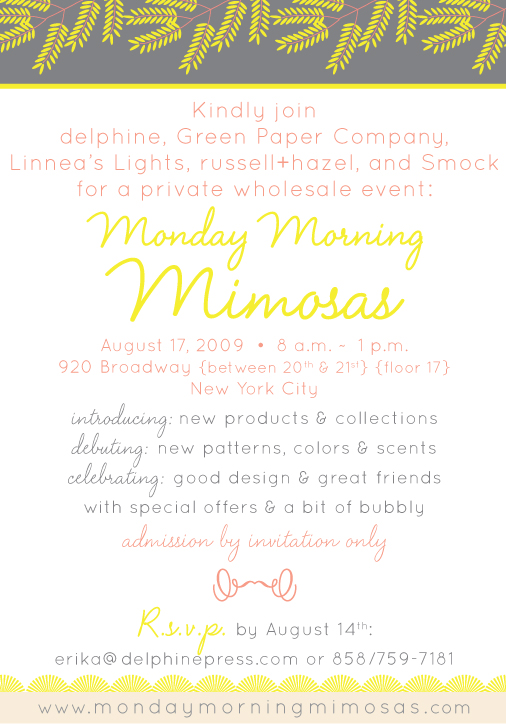 Monday Morning Mimosas with Smock, Delphine, Linnea's Lights, Russell + Hazel and Green Paper Co
