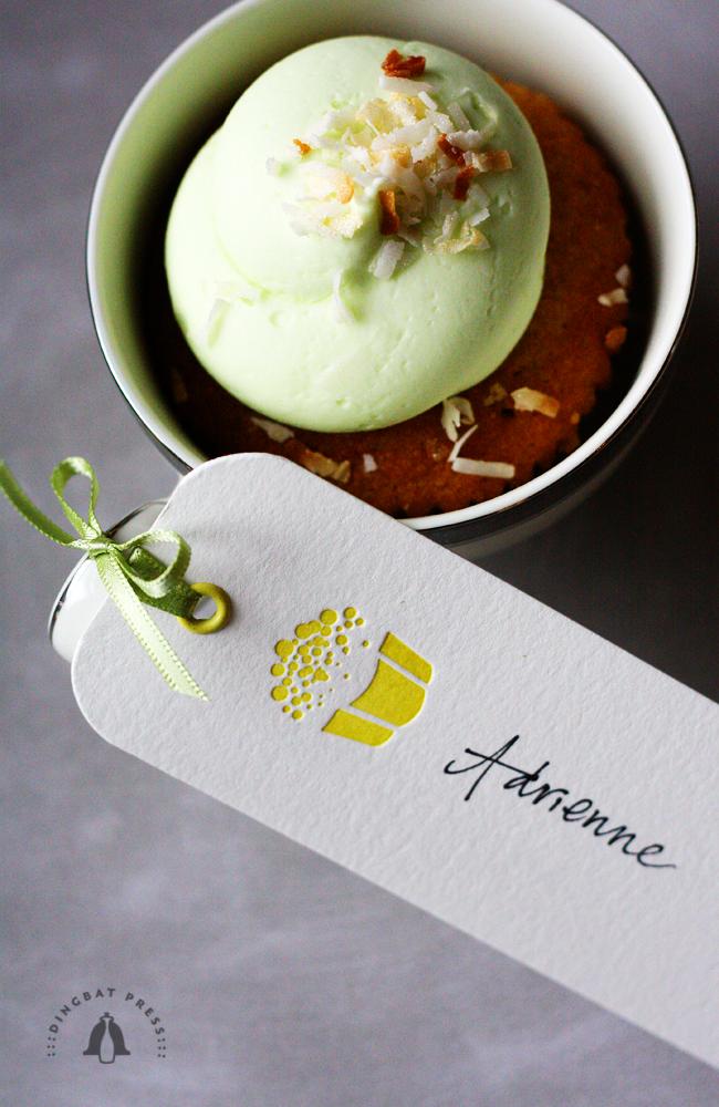 Lemon Sprinkles Cupcake Tag