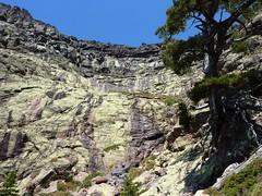L'amphithéâtre rocheux de Campu Razzinu sous la vire de Scaffone