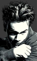 River Phoenix Art (Mel Marcelo) Tags: portrait celebrity face hair vectorart actor grafx adobeillustrator riverphoenix spotcolors melmarcelo meltendo mpyregraphics melitomarcelo