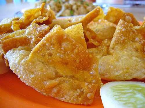 prawn dumpling fritters