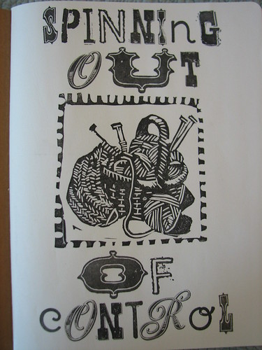 Title page using stamp I carved