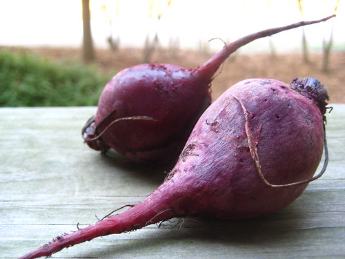 beets, roasted and wrinkled.