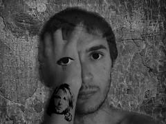 kurt lives 4 ever (☇Márcio Ismael→) Tags: white black art photoshop peace kurt cobain crying drop rest tear