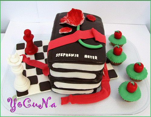 TARTA DECORADA CREPUSCULO / TWILIGHT CAKE