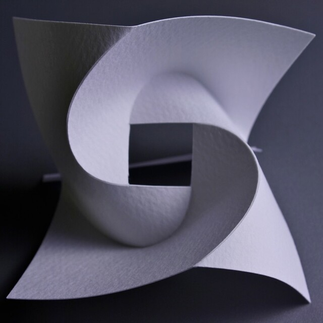 Curved fold by Yoshinobu Miyamoto