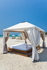 Massage bed on the beach