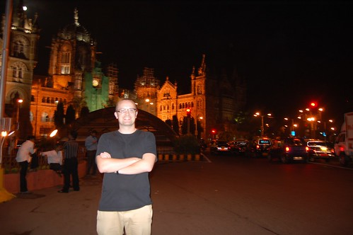 Me outside Victoria Terminus
