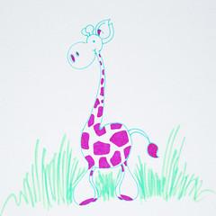 Second giraffe of one in a million (TwitterChristel) Tags: animal drawing web internet longneck giraffe dier handdrawn tekening 1000000 onemillion getekend 1miljoen metdehand eenmiljoen