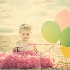 B I R T H D A Y (Shana Rae {Florabella Collection}) Tags: ocean birthday baby love beach girl vintage balloons eyes sand kitty explore firstbirthday frontpage seashore theparadise oneyearold tutu pettiskirt shanarae florabellatextures softdreamyandethereal