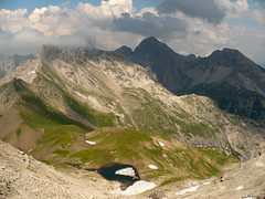 The land of capricorns (Rianetna) Tags: lake mountains alps montagne lago alpen alpi alpy cime ghiacciai allgueralpen heilbronnerweg