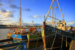 Evening Glow (Deb Snelson) Tags: ireland dublin port boats evening fishing colorful vibrant shipyard wicklow arklow canon40d ardgillen