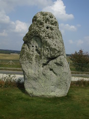 Heel stone (Ivan) Tags: world heritage monument mystery standing wonder site ancient stones hard stonehenge marker druid upright scar unsolved bluestone solid erect sarcen canyouseeaface