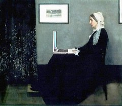 Whistler's Mommy-Blogger (Mike Licht, NotionsCapital.com) Tags: art painting whistler women satire humor computers blogs blogging laptops mommybloggers jamesmcneillwhistler mikelicht notionscapitalcom