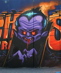 bela lugosi one (RABBIT EYE MOVEMENT) Tags: vienna wien street art austria sterreich blood mural gallery nocturnal walls bela graffit bats nos sucker lowbrow lugosi inoperable bande nychos feratu nachtaktiv