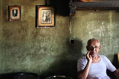Veteran (Rohit Markande) Tags: old portrait india restaurant serious posing oldman indians vest vests oldph