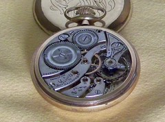 Burlington Chicago Pocket Watch (alexkerhead) Tags: old usa chicago up burlington vintage mechanical wind antique watch retro 21j manual pocket windup jewel