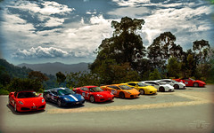 Italian Lineup (anType) Tags: blue red italy orange india white sports car yellow spider italian asia group 360 ferrari exotic malaysia modena lamborghini luxury gwalior supercar v8 v10 pahang bukittinggi gallardo sportscar hillclimb f430 combo 430 murcielago v12 lambo superleggera murci shobhit gosain berjayahills timechallenge jpmmotorsports soulsteer