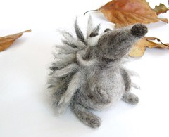 Hedgehog (fingtoys) Tags: cute wool animal felted fun toy grey soft natural gray waldorf felt hedgehog arttoy fing needlefelted fingtoys