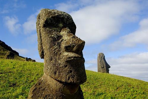 moai Rano Raraku, Easter island
