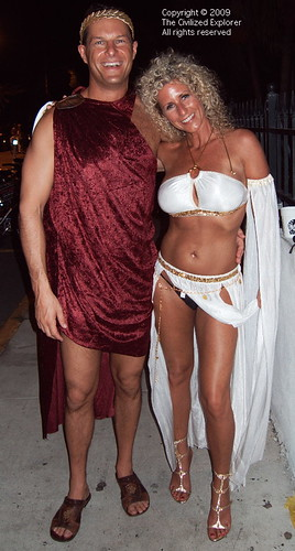 Nice A Lovely Roman Couple For The Toga Party