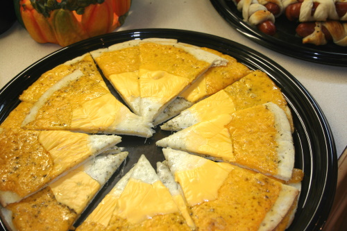 Candy Corn Cheese Pizza
