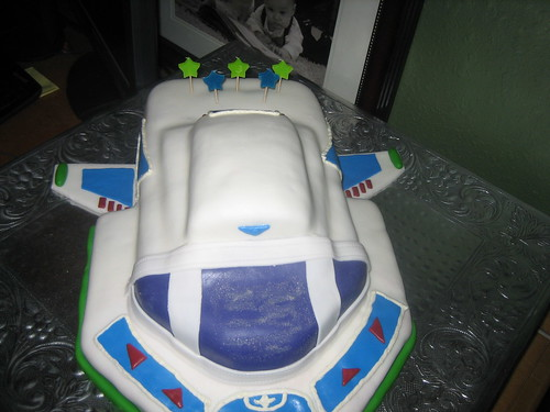 Jennifer Spiller makes the Buzz LightYear Cake