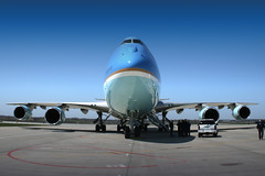 Air Force One On A Beautiful Day (Kris Klop - clearskyphotography.com) Tags: usa airplane us airport aircraft aviation president presidential airforceone boeing 747 b747