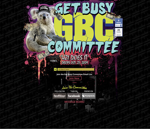 Original Get Busy Committee splash page