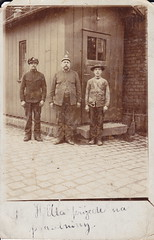 The Railroad Men (LJMcK) Tags: vienna railroad station vintage czech railway empire weiss austrohungarian rochlitz rokytnice wacek rppc vacek realphotopostcard