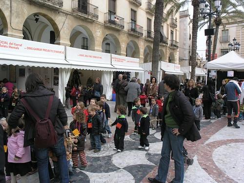 La Fira a la plaça de la Vila por Vilanova i la Geltrú.