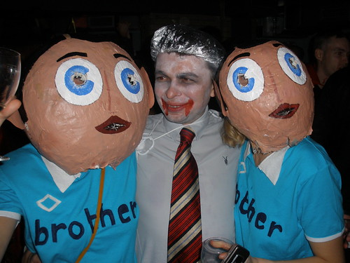 Frank Sidebottom with phycho and little Frank