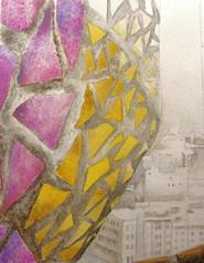 View from a Tower . . . Sagrada Familia (bettyfromtexas) Tags: barcelona architecture watercolor journal sketchbook gaudi watercolors sagradafamilia