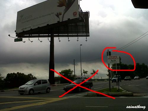 Road closure in Bandar Utama - Jalan Tanjung