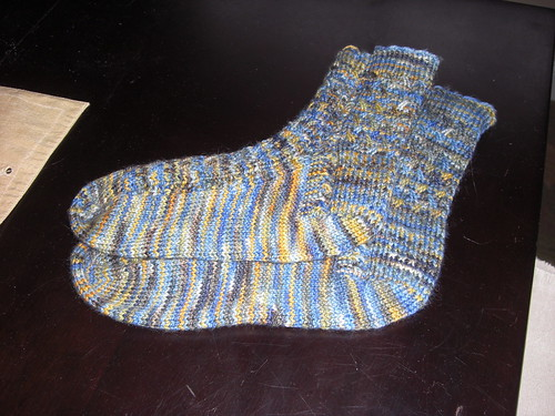 mad colorweave socks for jody - finished!