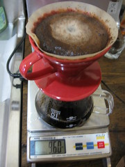 v60-10: End pour for 1 cup @ 9oz