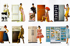 1964 - fridge decor (x-ray delta one) Tags: illustration vintage magazine ads advertising suburban ad suburbia retro nostalgia 1940s 1950s americana 1960s atomic populuxe housewife coldwar popularscience popularmechanics magazineillustration atomicpower