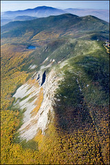 The Nature of New Hampshire (Ben Kimball) Tags: autumn cliff mountains fall nature spectacular landscape photo scenic newengland newhampshire whitemountains aerial aerialphoto cannonmountain talus topography kinsmanridge specland cannoncliff