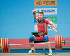 Lahun BLR celebrates 209kg CJ (Rob Macklem) Tags: china men olympic 2009 lu 85kg olympicweightliftingkoreaworldchampionshipsgoyangcity