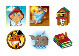 free Wooden Boy slot game symbols