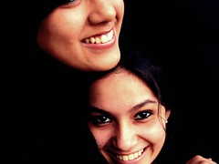 Portrait # 29/100 - Avni and I (Meera Navare) Tags: friends portrait people india love college girl smile kids female portraits children square fun person kid child smiles fc meera pune avni meeranavare