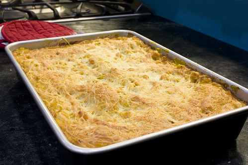 Pan of Butternut and Navy Bean Lasagna