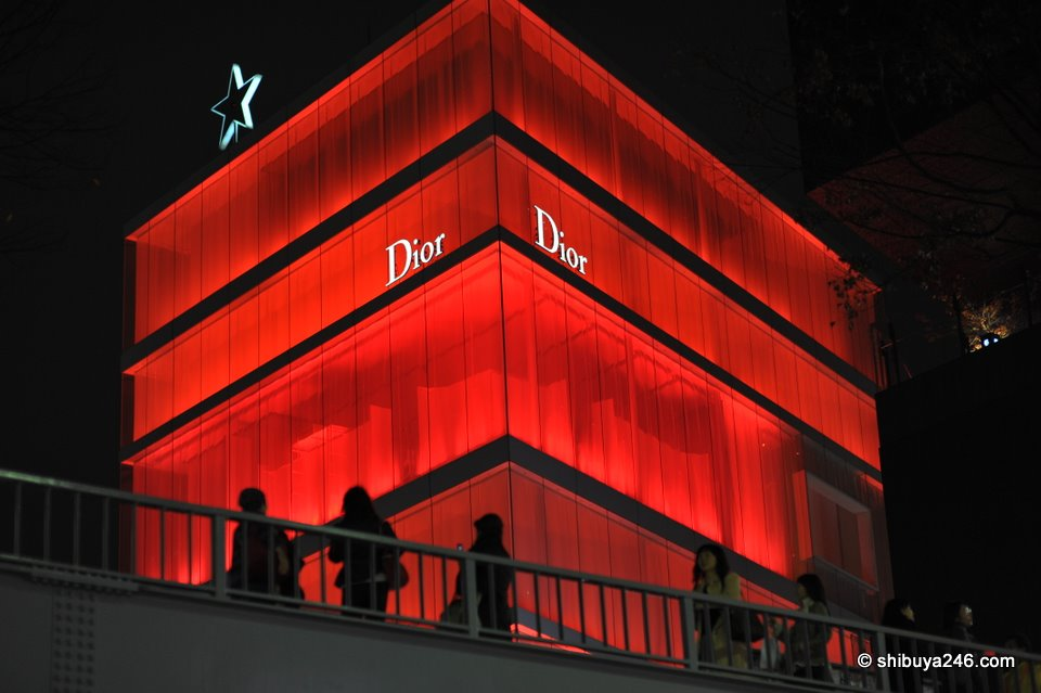 Dior chose a nice shade of red for their building in Omotesando.